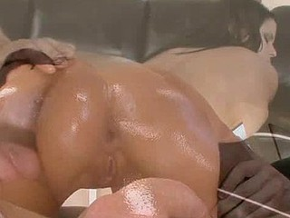 Beauty caresses succulent loving hole in advance of getting cock inside