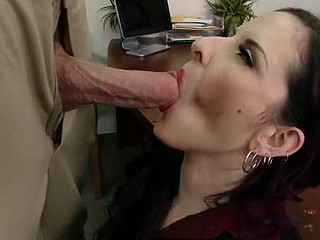 Jordan is down visiting his mother so that babe takes him to her work and shows him around. When this chab meets her sexy boss this babe just now takes a liking to him. The boss quickly finds tasks for Jordan's mother so this babe can have him all to herself.